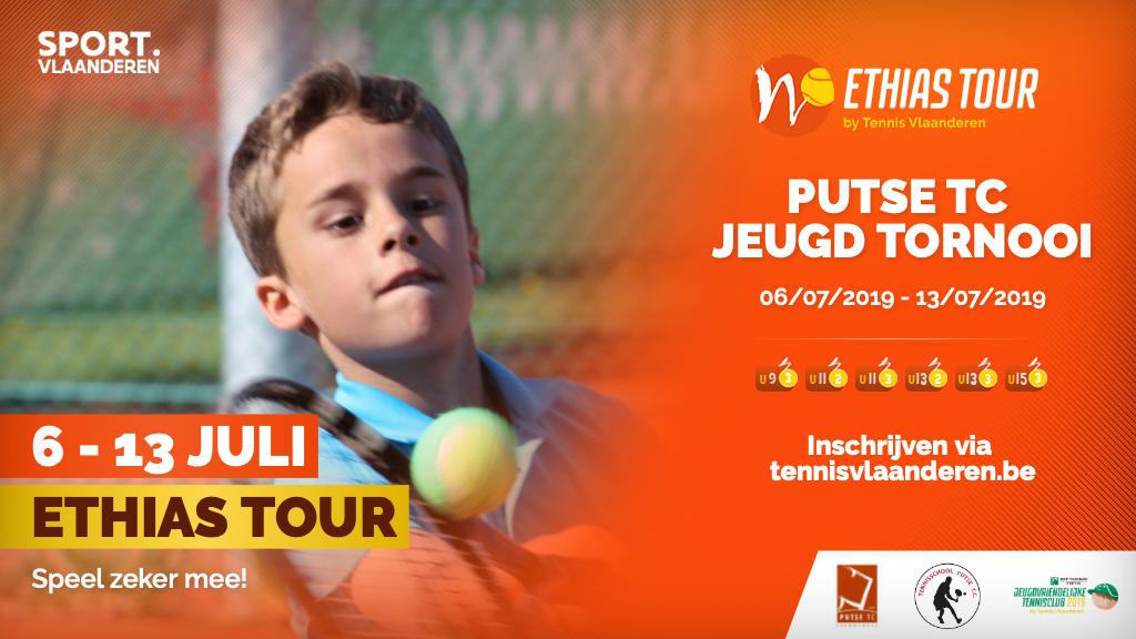 Jeugdtornooi Putse TC (Ethias Tour): 6 - 13 juli